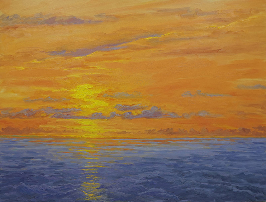Orange, Yellow, Purple, 18 x 24, oil on canvas, 2017