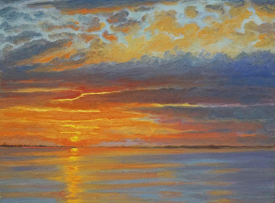 Still Air, 12 x 16 inches, oil on canvas