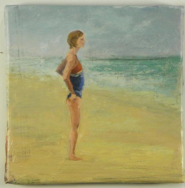 Fresco, 8 x 8 inches, oil on canvas, 2009