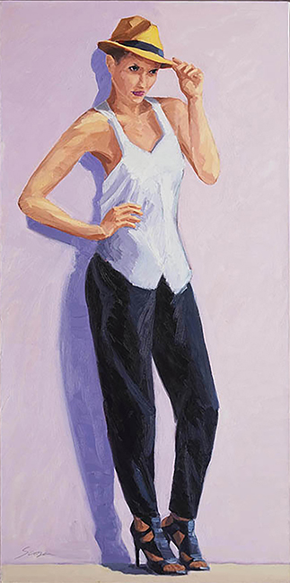Nat, 36 x 18 inches, oil on canvas, 2011