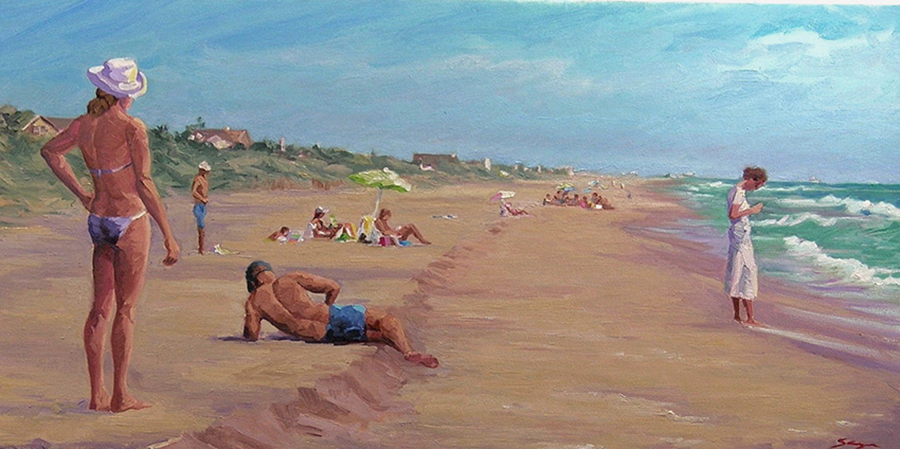 Set Piece, 15 x 30 inches, oil on canvas, 2008