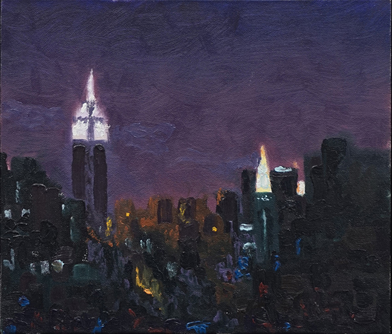 WTC 5th Ave, oil on canvas, 1997