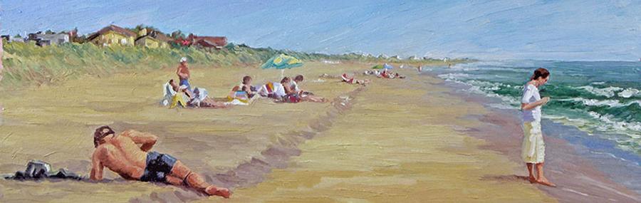 Atlantic Beach, 8 x 24 inches, oil on canvas, 2008