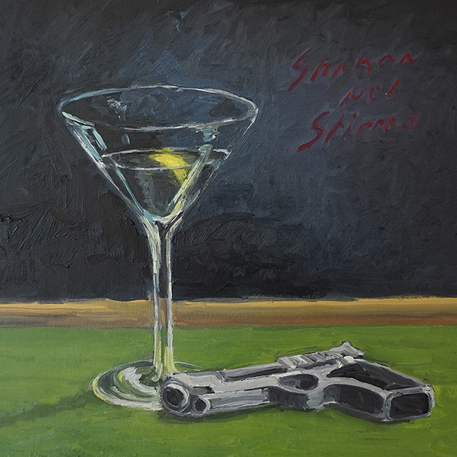 Shaken Not Stirred, 12 x 12 inches, oil on canvas