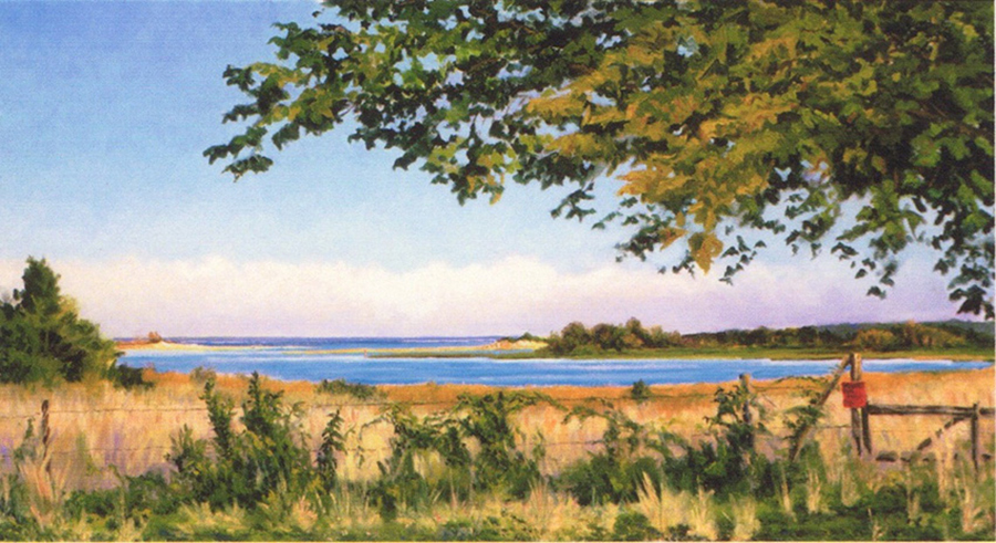 Posted, 15 x 30 inches, oil on canvas, 1995