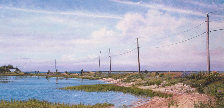 Gerald Drive, 36 x 72 inches, oil on canvas, 1995