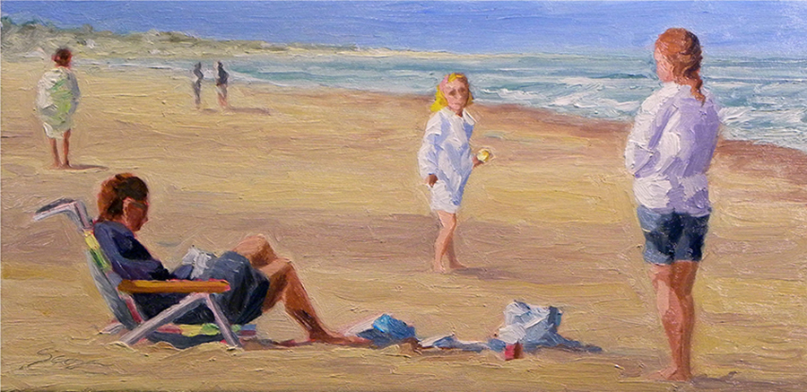 Ready to Leave, 10 x 20 inches, oil on canvas, 2003