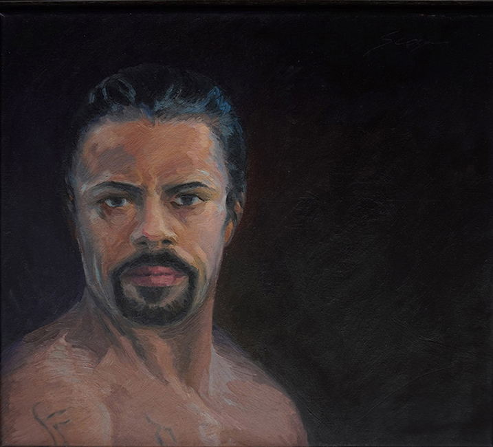 Othello, 18 x 20 inches, oil on canvas