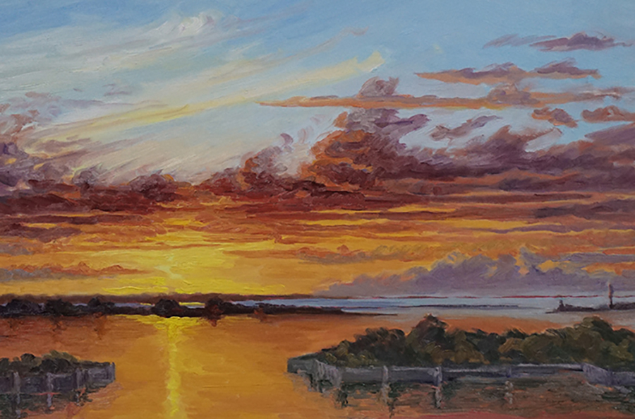 Three Mile Harbor, 20 x 30 inches, oil on canvas
