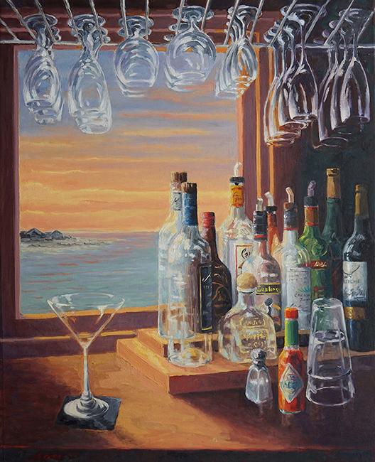 Martini Glass, 30 x 40 inches, oil on canvas