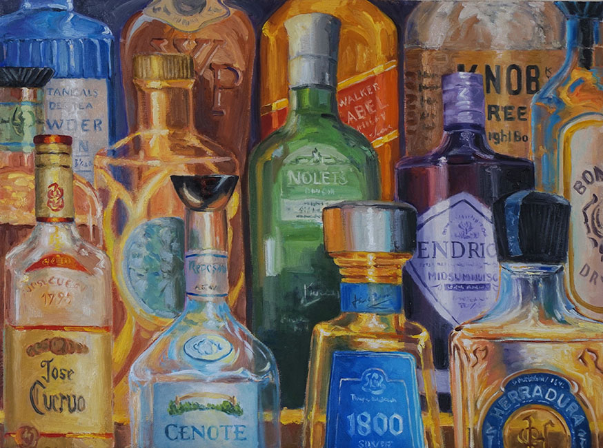 Colorful collection, 18 x 24 inches, oil on canvas